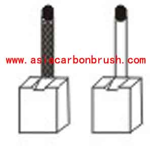 Fiat carbon brush,carbon brush for automobile,car carbon brush,Fiat 91191 JSX 38-41(2) 1-JS 38(-) 1-JS 41(+)